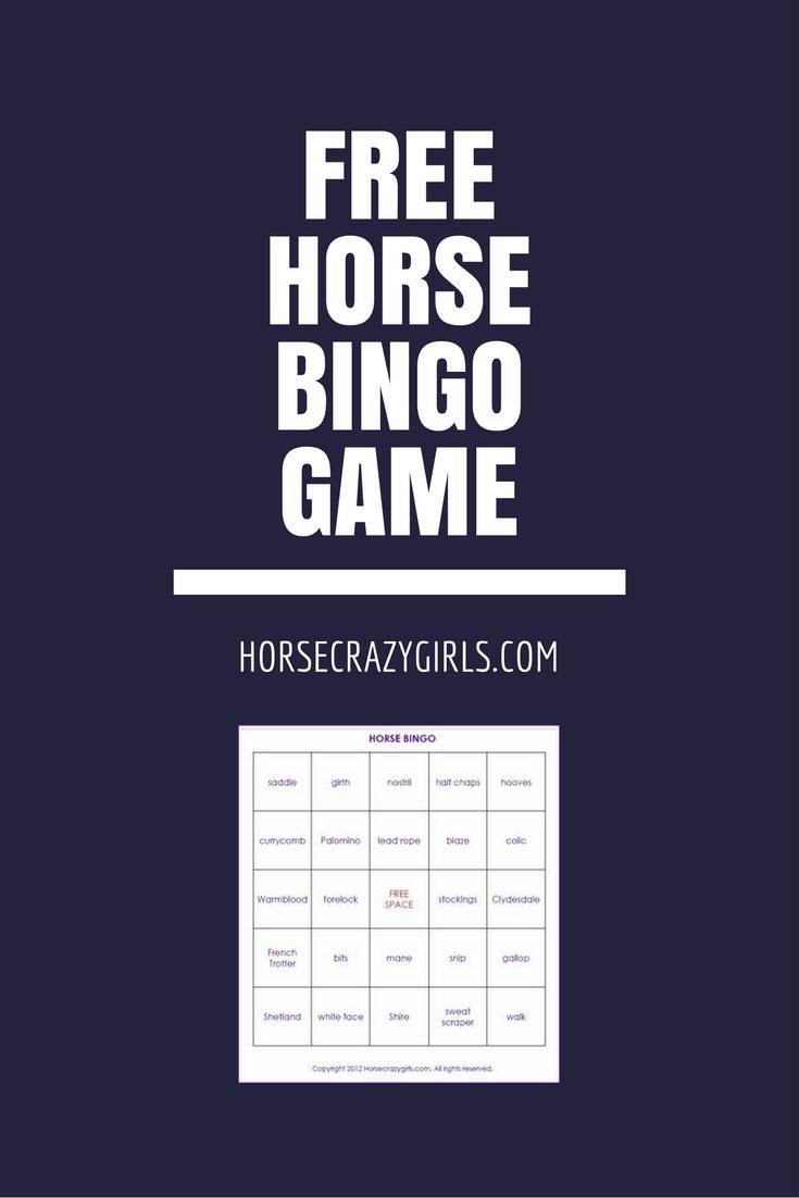 Free horse bingo game!