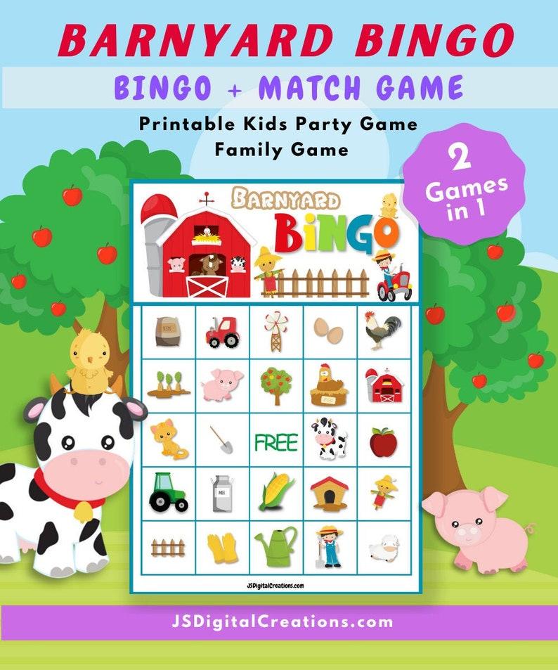 Barnyard bingo game.