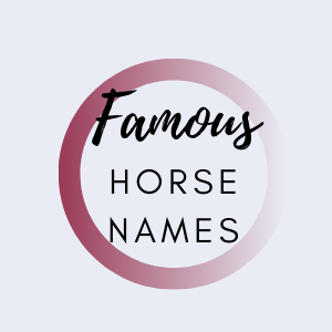 Graphic that says famous horse names.