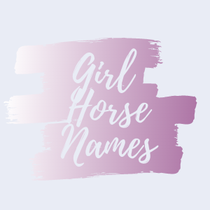 Graphic that says girl horse names.
