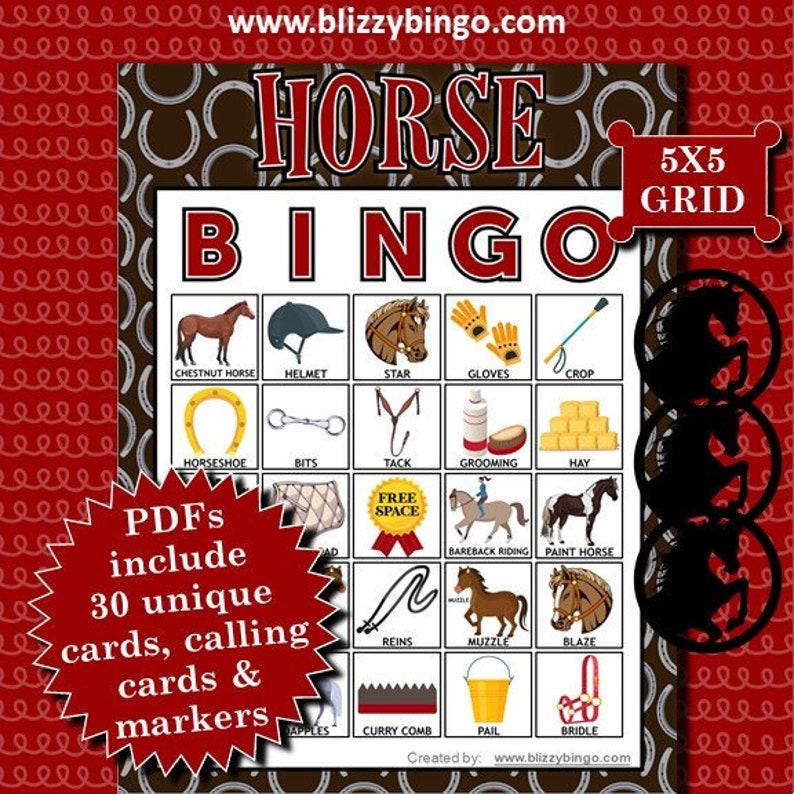 Horse bingo game.