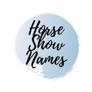 Graphic that says horse show names.