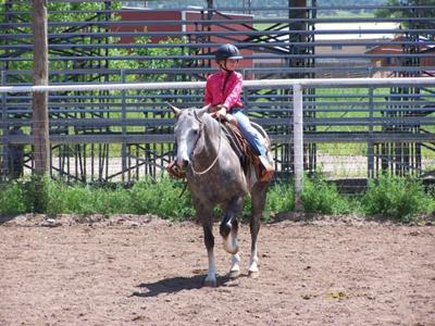 This is me riding Melody! (Does she look like a quarter horse?)