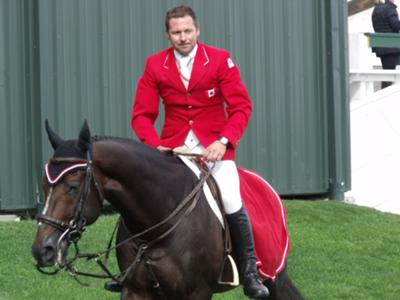 Eric Lamaze & Hickstead after a clear round at the Masters tournament at Spruce Meadows!