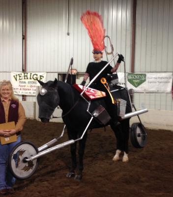 biker girl horse costume