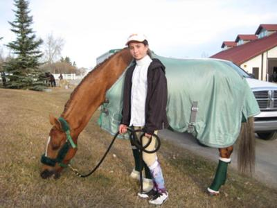 This is me and Lulu After a show at Spruce Meadows