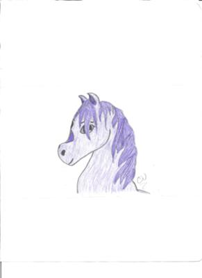 Purple Anime Horse