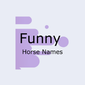 Graphic that says funny horse names.