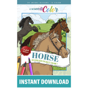 Horse Coloring Book For Adults Volume 1