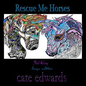 Rescue Me Horses Volume 2 Line Art Adult Coloring Book
