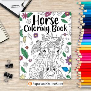 Floral Mandala Adult Coloring Book