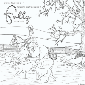 Folly and Friends Horse Coloring Book for Teens and Young Adults