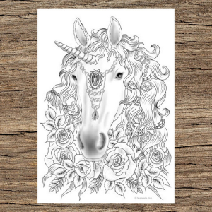 Jewel Horse Head Printable Adult Coloring Page