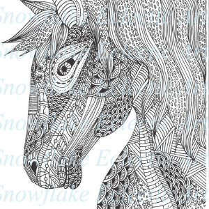 Medieval Horse Head DIY Coloring Page for Adults