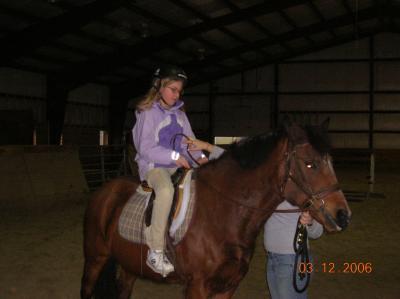 Me riding Liz a long time ago!!!