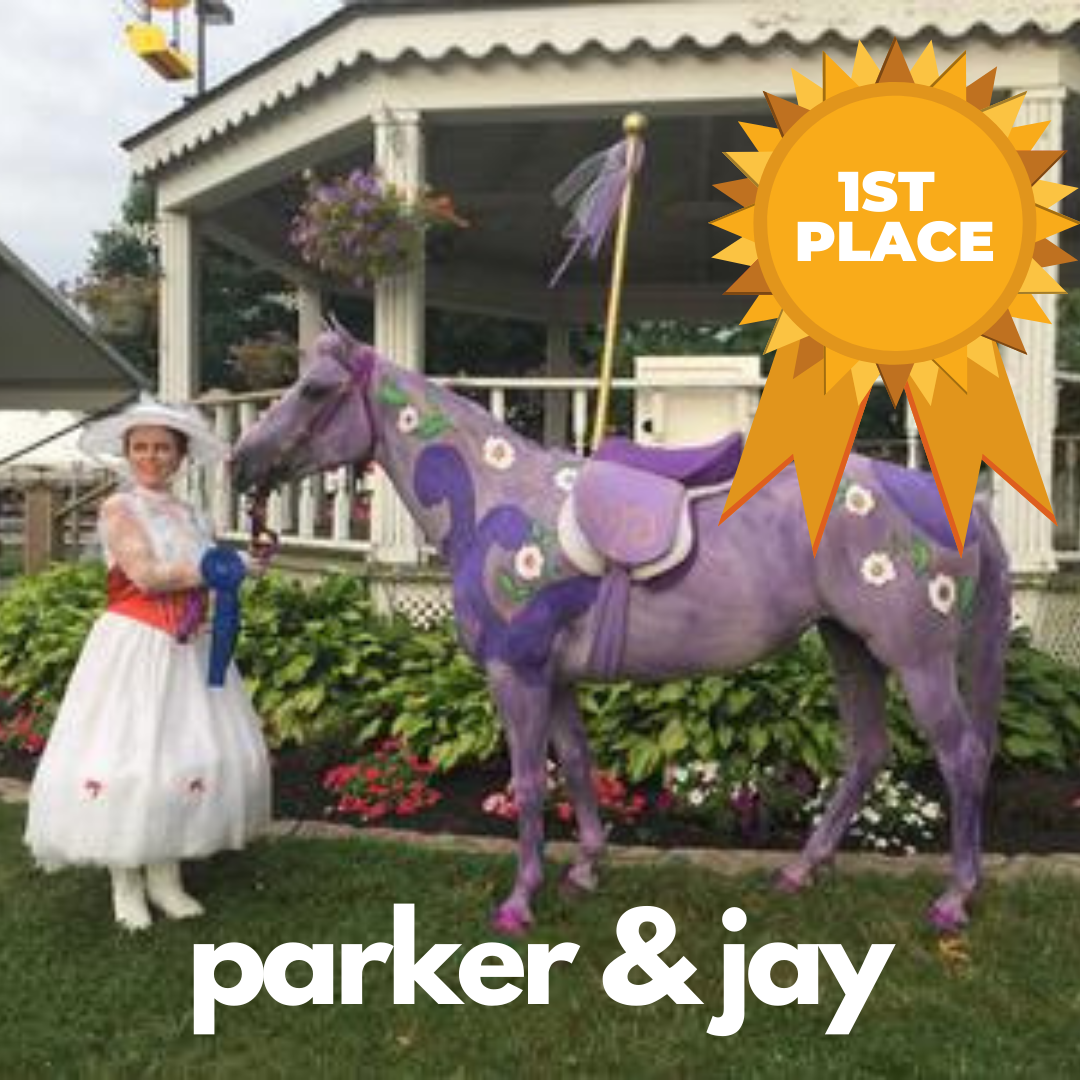 Horse halloween costume contest winner: first place