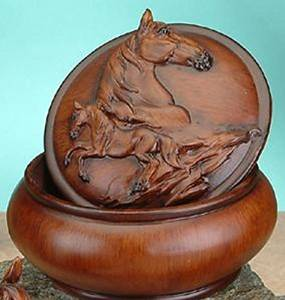 Faux Wood Horse Jewelry Trinket Box Collectible Decoration Container & Horse Jewelry Aboutintivar.Com