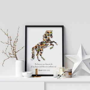 Custom Horse Photo Collage Wall Art for horse owners