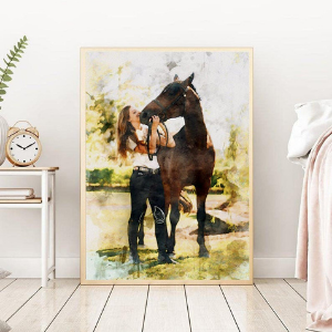 Custom Drawing Horse Portrait for horse owners