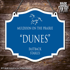 Hanging Horse Stall Name Plate for horse owners