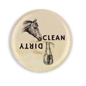 Horse Head and Horse Butt, Clean or Dirty Dishwasher Magnet, funny gifts for horse lovers
