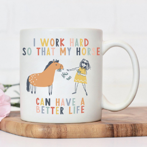 Funny Horse Lover Gift Mug, funny gifts for horse lovers