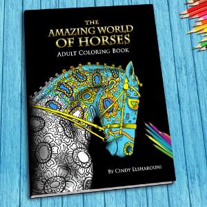 A horse coloring book.