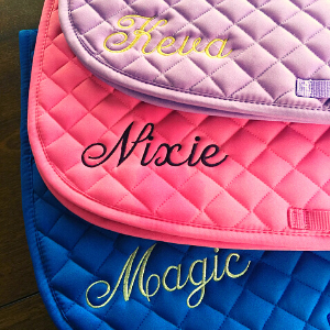 Personalized English Saddle Pad with Name, gift for equestrians