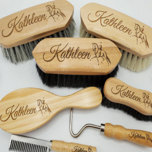 Beautiful Custom Engraved Horse Brush gift for equestrians