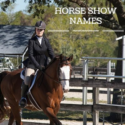 Share your favorite Horse Show Names!