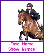 Horse show names