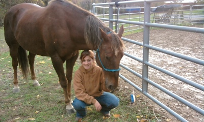 Hoss and I after a ride