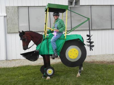 John Deere Tractor horse costume