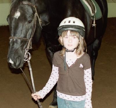 Sarah and a horse name Wolf