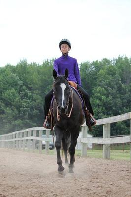 me and my lesson horse Hunter