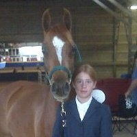 Monti and Me getting ready at a show