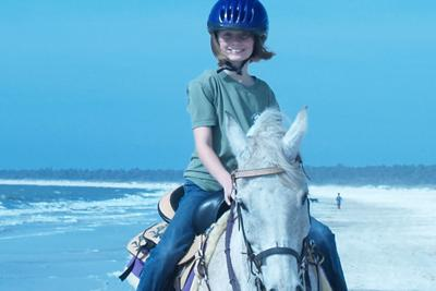 Me and my Arabian horse on the beach