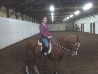 Me on my amazing mare, Electra