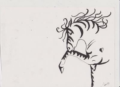 Silhouette horse drawing #2