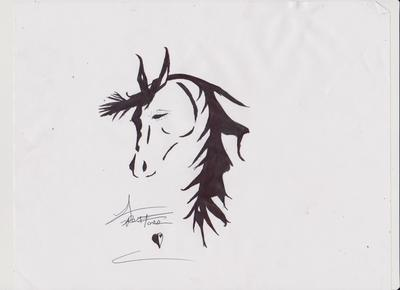 Silhouette horse drawing # 1