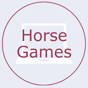 Button that says horse games. This links to the horse games page.