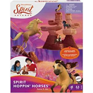 A picture of the box for the Mattel Spirit Untamed Hoppin' Horses Kids Game.