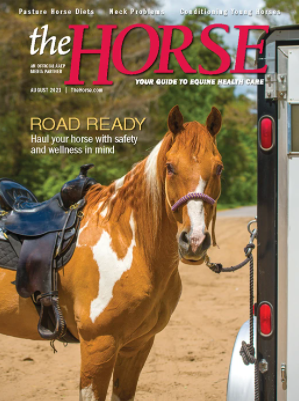 A picture of the The Horse: Your Guide To Equine Health Care magazine cover.