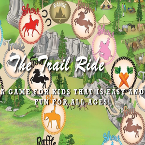 A graphic that says The Trail Ride A Game For Kids That Is Easy And Fun For All Ages.