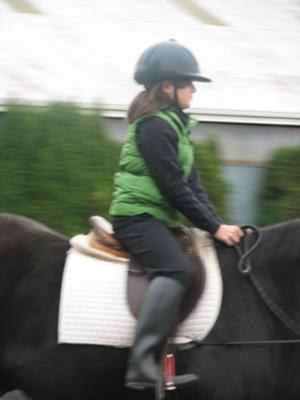 My second ever lesson on a horse named General