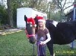 Me and Prissy At Christmas At Oak Hollow.