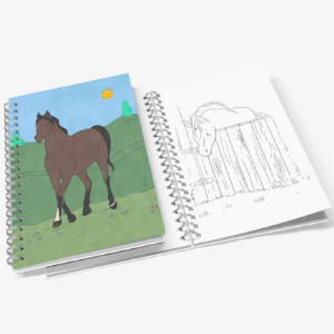 Cute horse coloring book for kids who love horses