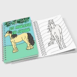25 Kid Friendly Horses to Color