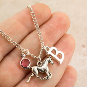 Personalized Horse Necklace gift for a horse lover