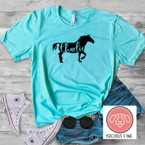 Personalized Horse T-Shirt gift for a horse lover